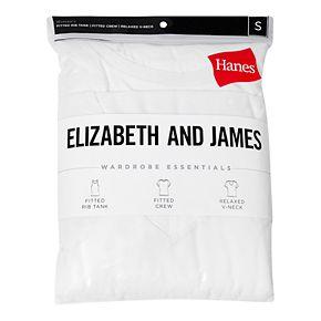 Women's Hanes + Elizabeth and James 3-pack Tees