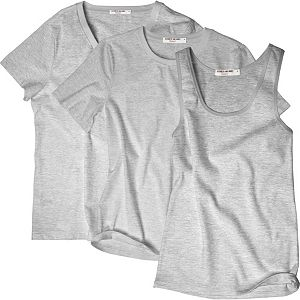 Women's Hanes + Elizabeth and James 3-pack Tees
