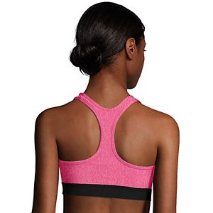 Hanes® Solid Absolute Racerback Compression Sports Bra O9178