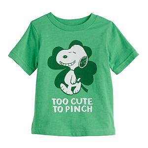 Baby Boy Jumping Beans® Peanuts Snoopy St Patrick's Day Graphic Tee