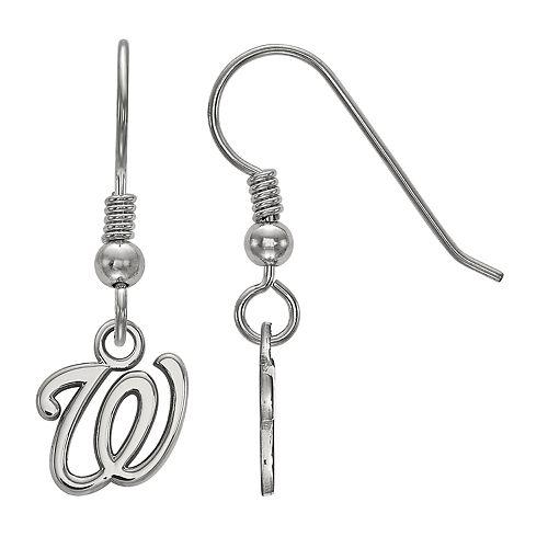 LogoArt Sterling Silver Washington Nationals Drop Earrings