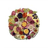 Edie @ Home Dimensional Spring Floral Throw Pillow