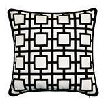 Edie @ Home Modern Links Applique Indoor & Outdoor Throw Pillow