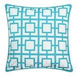 Edie @ Home Modern Links Applique Indoor & Outdoor Throw Pillow