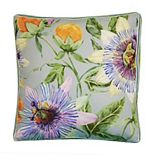 Edie @ Home Pretty Protea Ribbon Indoor & Outdoor Throw Pillow