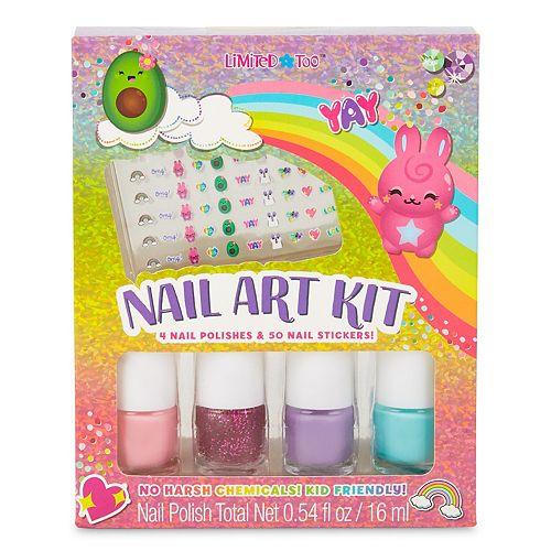 Girls Limited Too Rainbow Cuties Nail Art Kit