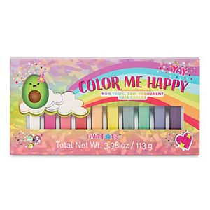 Color Me Happy 10-Piece Rainbow Cuties Hair Chalk Set