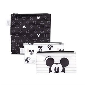 Disney's Mickey Mouse Love Mickey Reusable Snack Bag 3-Pack by Bumkins