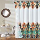 Lush Decor 14-piece Bohemian Meadow Shower Curtain Set