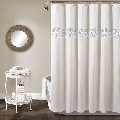 Lush Decor Dana Lace Shower Curtain