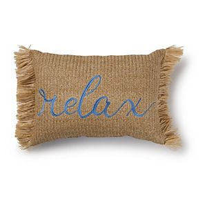 """SONOMA Goods for Life® Indoor/Outdoor """"Relax"""" Throw Pillow"""