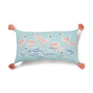 SONOMA Goods for Life® Indoor/Outdoor Flamingo Throw Pillow