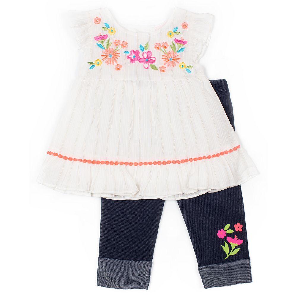 Toddler Girl Little Lass Top & Capri Set