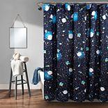 Lush Decor Universe Shower Curtain