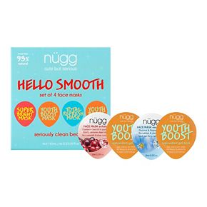 nügg Hello Smooth Face Mask Set for Normal, Dull, and Aging Skin