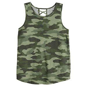 Girls 4-20 & Plus Size SO® Cross Back Tank