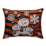 Chicago Bears Holiday Team Snowman Throw Pillow
