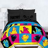 Fortnite Neon Warhol Comforter