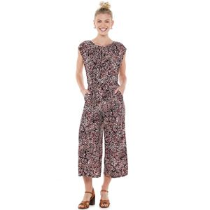 Petite Suite 7 Print Pleated Wide-Leg Jumpsuit