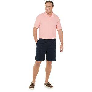 Big & Tall Croft & Barrow® Twill Elastic Pull-On Cargo Shorts