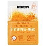 Freeman 2-Step Peel Pad + Sheet Mask Indian Turmeric
