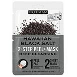Freeman 2-Step Peel Pad + Sheet Mask Hawaiian Black Salt