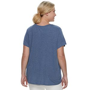 Juniors' Plus Size SO® Oversized Pocket Tee