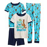 Boys 4-10 Scooby Doo 4-piece Pajama Set