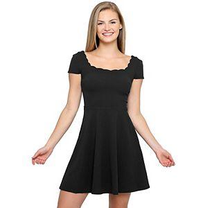 Juniors B. Smart Short Sleeve Scoopneck Skater Dress