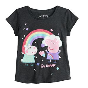 """Toddler Girl Jumping Beans® Peppa Pig """"Be Happy"""" Graphic Tee"""