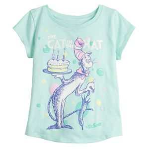 Toddler Girl Jumping Beans® Dr. Seuss The Cat In The Hat Birthday Graphic Tee