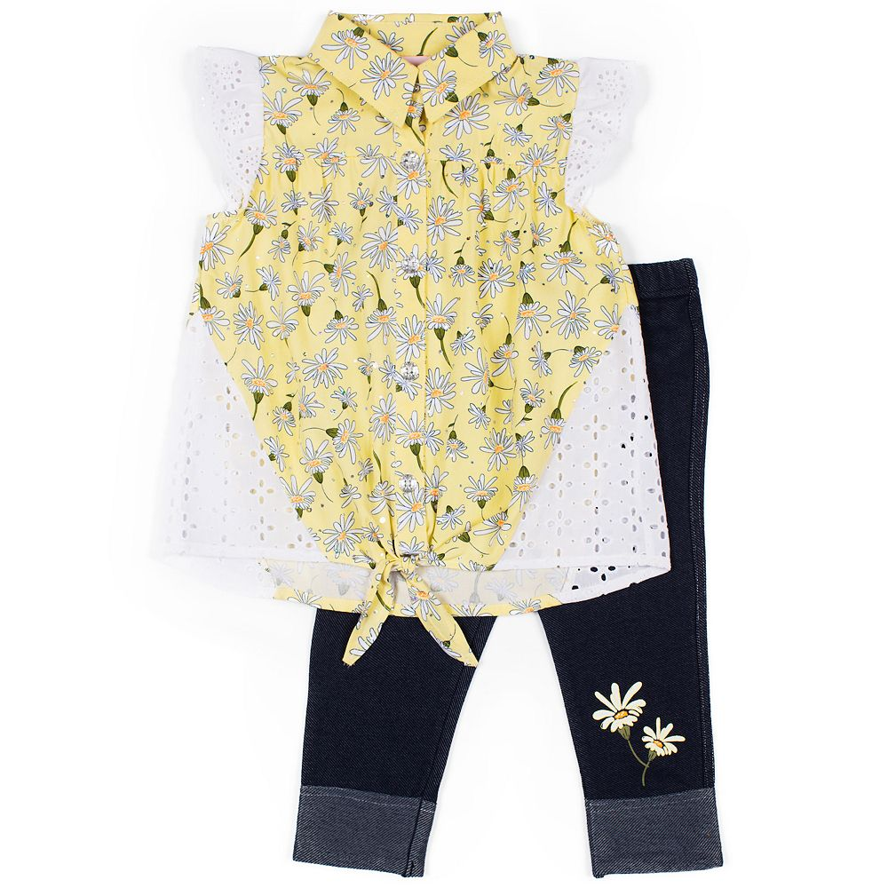 Baby Girl Little Lass 2-Piece Capri & Top Set