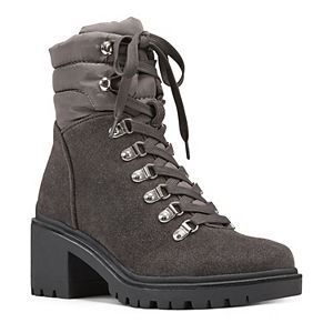 Nine West Persia Women's Leather Combat Boots