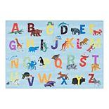 Eric Carle Elementary Animal Alphabet Kids Area Rug