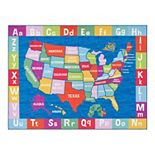 Eric Carle Elementary USA Map Kids Area Rug