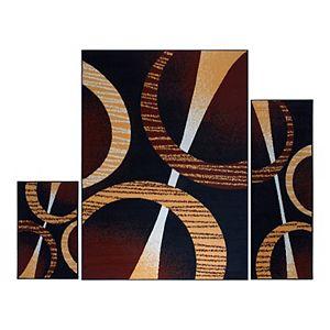 Home Dynamix Ariana Arcata 3-Piece Area Rug Set