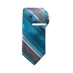 Men's Apt. 9® Striped Skinny Tie & Tie Bar