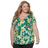 Plus Size EVRI V-Neck Tee