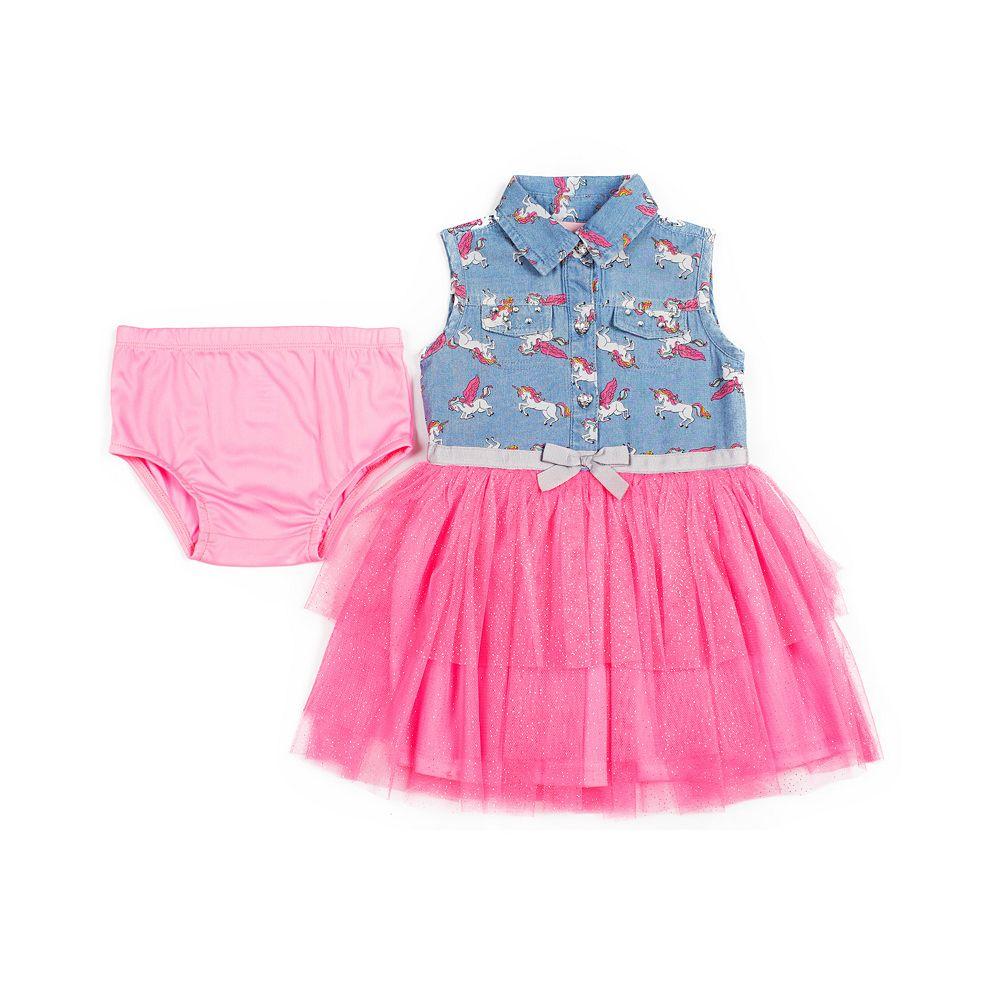 Baby Girl Little Lass Unicorn Woven Dress