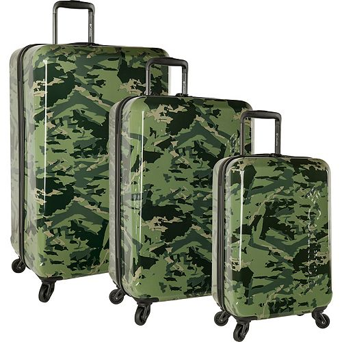 Columbia Maple Trail Camo 3-Piece Hardside Spinner Luggage Set