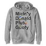 Disney's Mickey and Friends Boys 8-20 Name Stack Hoodie