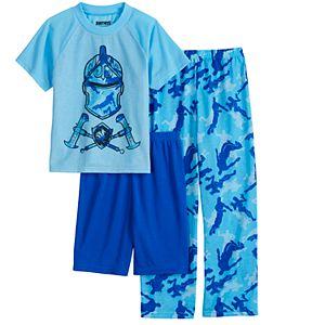 Boys 8-16 Fortnite Blue Knight Camo 3-Piece Pajama Set