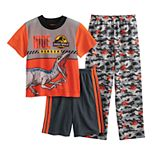 Boys 4-10 Jurassic Park To The Past 3-Piece Pajama Set