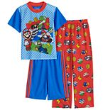 Boys 4-10 Nintendo Mario Speedster 3-Piece Pajama Set