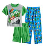 Boys 6-12 Minecraft Explore The World 3-Piece Pajama Set