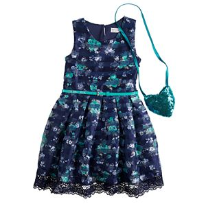 Girls 4-6x Knit Works Organza Skater Dress