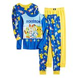 Boys 4-10 Pokemon Poke Sword Top & Bottoms Pajama Set