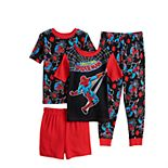 Boys 4-10 Marvel Spider-Man Webbed 4-Piece Cotton Tight Fit Pajama Set