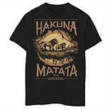 Disney's The Lion King Boys 8-20 Live Action Hakuna Matata Sunset Poster Graphic Tee