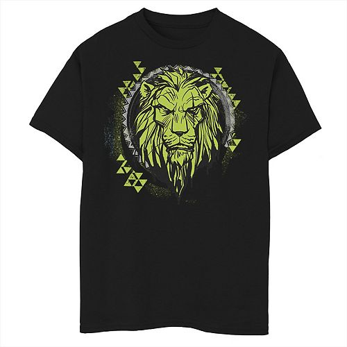 Disney's The Lion King Boys 8-20 Live Action Scar Geometric Circle Graphic Tee